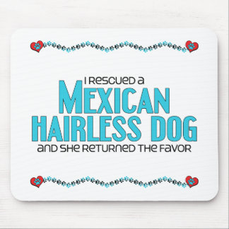 I Rescued a Mexican Hairless Dog Female Dog Mousepad