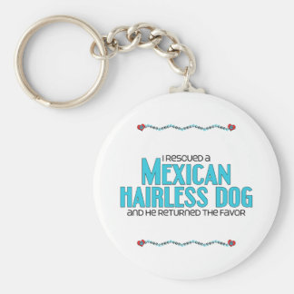 I Rescued a Mexican Hairless Dog (Male Dog) Basic Round Button Key Ring