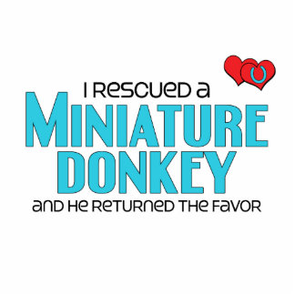 I Rescued a Miniature Donkey (Male Donkey) Photo Sculpture Magnet