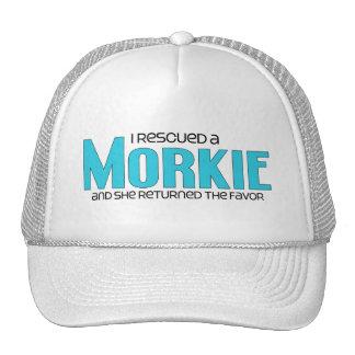 I Rescued a Morkie (Female) Dog Adoption Design Mesh Hat