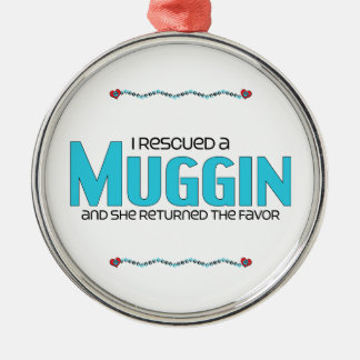 I Rescued a Muggin (Female) Dog Adoption Design Christmas Ornament