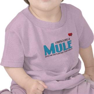 I Rescued a Mule (Male Mule) T-shirt