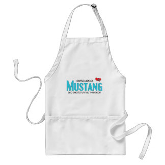 I Rescued a Mustang (Female Horse) Adult Apron