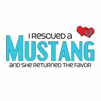 I Rescued a Mustang Female Horse Photo Sculptures