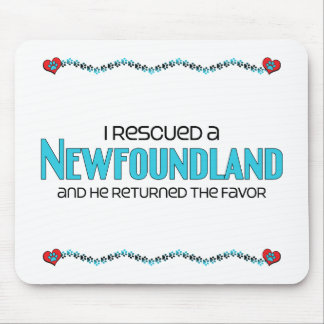 I Rescued a Newfoundland (Male Dog) Mouse Pads