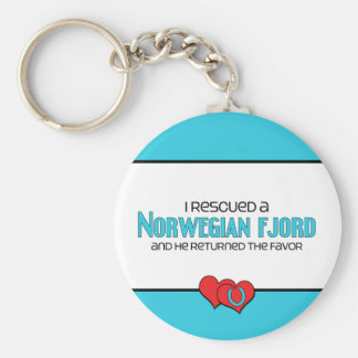 I Rescued a Norwegian Fjord (Male Horse) Basic Round Button Key Ring