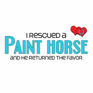 I Rescued a Paint Horse (Male Horse) Photo Sculpture Magnet