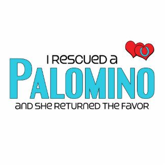 I Rescued a Palomino Female Horse Acrylic Cut Out