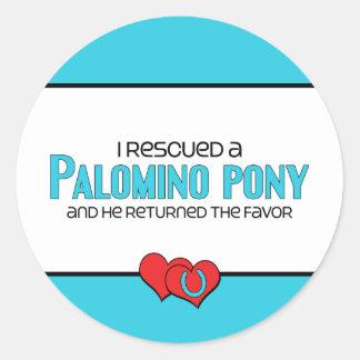 I Rescued a Palomino Pony (Male Pony) Sticker