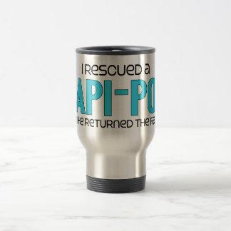 I Rescued a Papi-Poo (Male) Dog Adoption Design Coffee Mugs