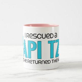 I Rescued a Papi Tzu (Female) Dog Adoption Design Mug