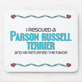 I Rescued a Parson Russell Terrier (Male Dog) Mouse Pad
