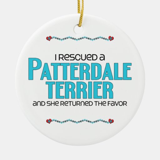 I Rescued a Patterdale Terrier (Female Dog) Christmas Ornament