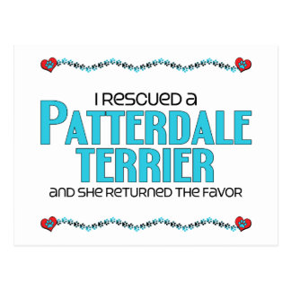 I Rescued a Patterdale Terrier (Female Dog) Postcard