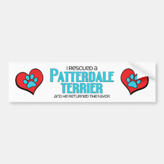 I Rescued a Patterdale Terrier (Male Dog) Bumper Sticker
