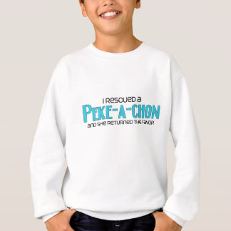 I Rescued a Peke-a-Chon (Female) Dog Adoption Sweatshirt