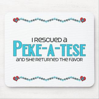I Rescued a Peke-A-Tese (Female) Dog Adoption Mousepad