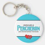 I Rescued a Percheron (Female Horse) Key Chain