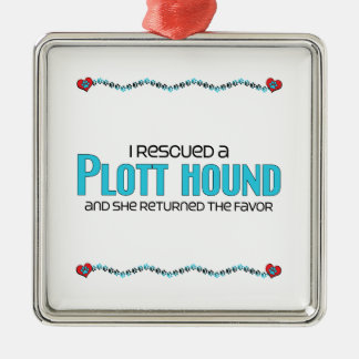 I Rescued a Plott Hound (Female Dog) Christmas Ornament
