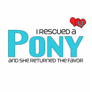 I Rescued a Pony Female Pony Acrylic Cut Outs