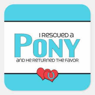 I Rescued a Pony (Male Pony) Sticker