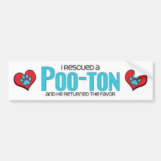 I Rescued a Poo-Ton (Male) Dog Adoption Design Bumper Sticker