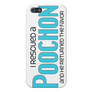I Rescued a Poochon (Male) Dog Adoption Design iPhone 5 Cases