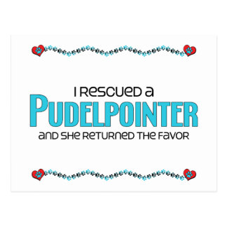 I Rescued a Pudelpointer (Female Dog) Postcard