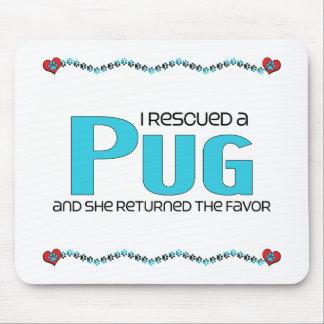 I Rescued a Pug (Female Dog) Mousepad