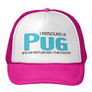 I Rescued a Pug (Male Dog) Mesh Hats