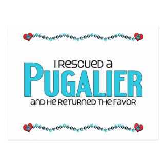 I Rescued a Pugalier (Male) Dog Adoption Design Postcards