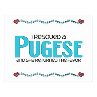 I Rescued a Pugese (Female) Dog Adoption Design Postcard
