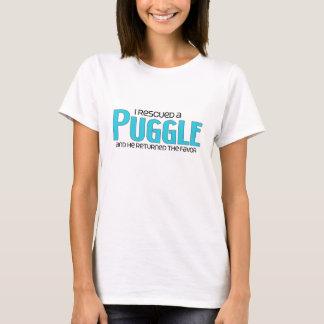 I Rescued a Puggle (Male) Dog Adoption Design T-Shirt