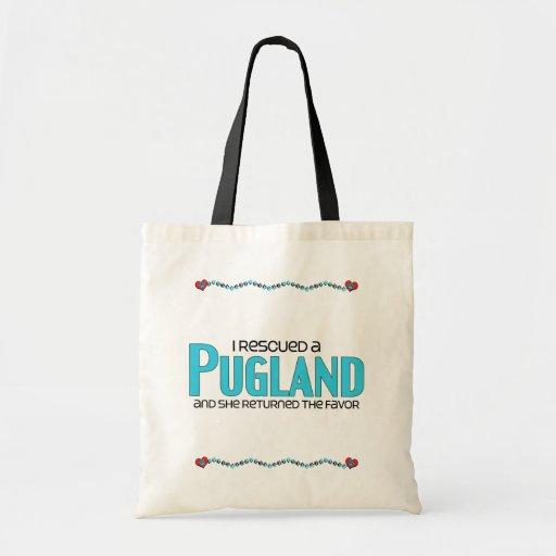 I Rescued a Pugland (Female) Dog Adoption Design Tote Bags