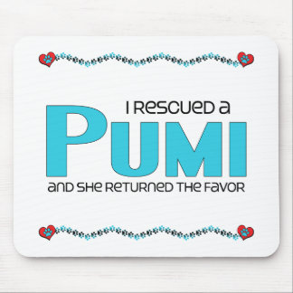 I Rescued a Pumi (Female Dog) Mousepad