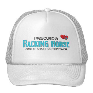 I Rescued a Racking Horse (Male Horse) Hats