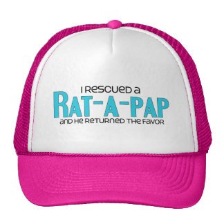 I Rescued a Rat-A-Pap (Male) Dog Adoption Design Trucker Hats