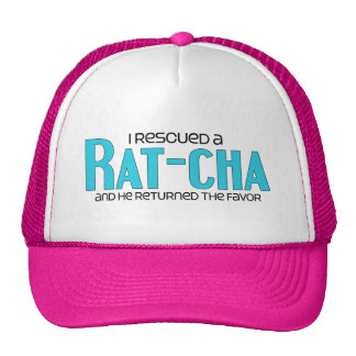 I Rescued a Rat-Cha (Male) Dog Adoption Design Mesh Hats