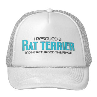 I Rescued a Rat Terrier (Male Dog) Cap