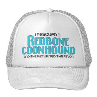 I Rescued a Redbone Coonhound (Female Dog) Hat