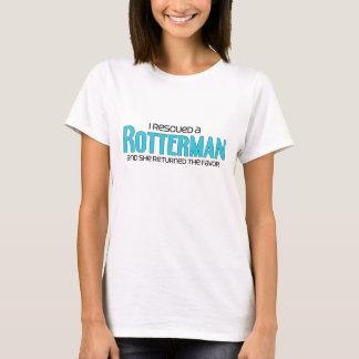 I Rescued a Rotterman (Female) Dog Adoption Design T-Shirt