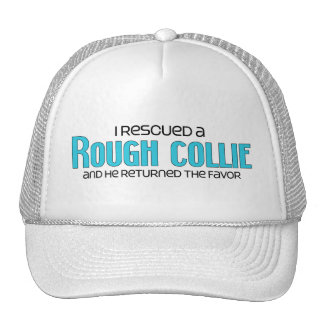I Rescued a Rough Collie (Male Dog) Mesh Hat