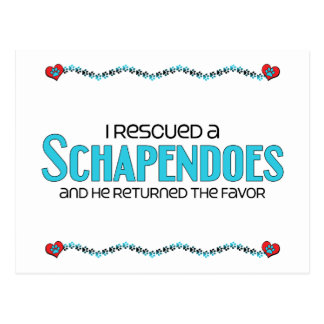 I Rescued a Schapendoes (Male Dog) Post Cards