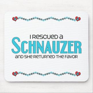I Rescued a Schnauzer Female Dog Mousepad