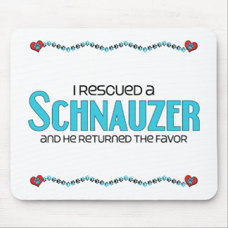 I Rescued a Schnauzer (Male Dog) Mousepads