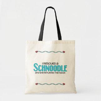 I Rescued a Schnoodle (Female) Dog Adoption Design Tote Bag