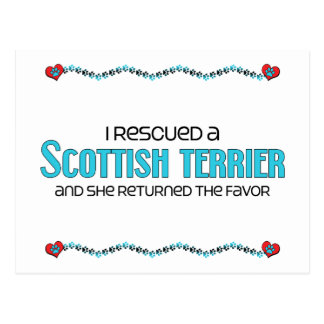 I Rescued a Scottish Terrier (Female Dog) Postcard