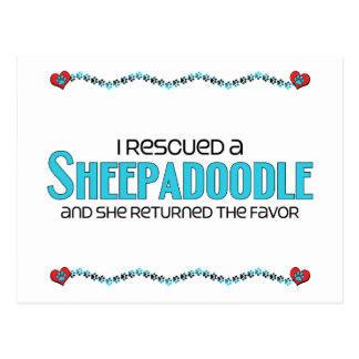 I Rescued a Sheepadoodle (Female) Dog Adoption Postcard