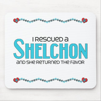 I Rescued a Shelchon (Female) Dog Adoption Design Mouse Pads
