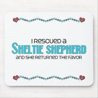 I Rescued a Sheltie Shepherd (Female) Dog Adoption Mouse Pad